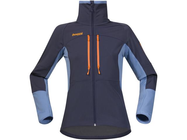Bergans Visbretind Jacket Women night blue/dusty light blue/pumpkin